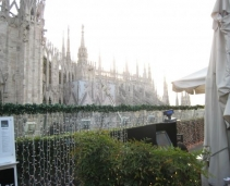 6 different restaurants, Amazing Terasse in front of the Duomo