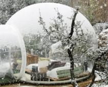 The experience of sleeping in a bubble!