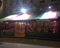 Parisian Café dunring the day...lounge bar at night