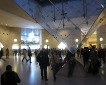 Great shopping mall in the Louvre Museum